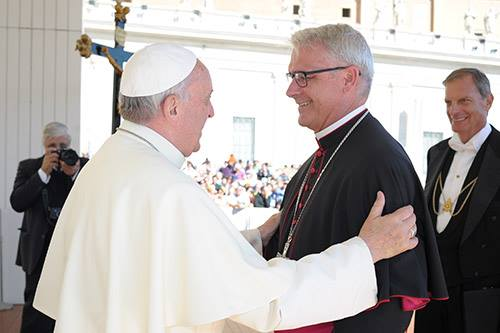 AB Coakley with Pope Francis