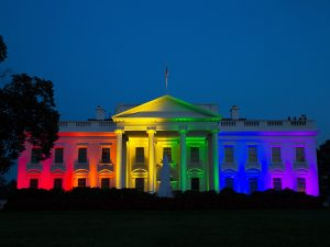 White House LGBT lights