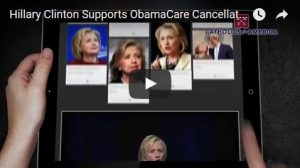 Hillary Clinton Supports ObamaCare Cancellations - photo